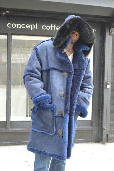 Blue Shearling Sheepskin
