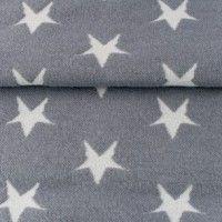 hochwertige Jaquard-Bündchen mit Sternen grau/hellgrau