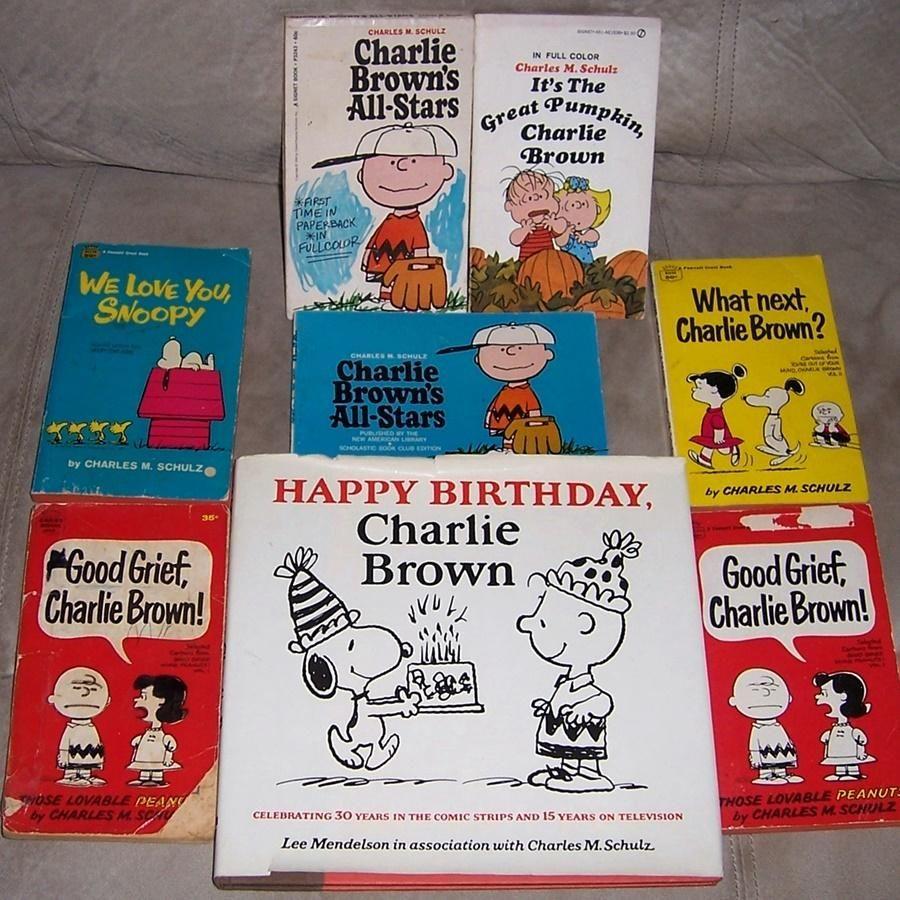 1979 Happy Birthday Charlie Brown Book And Seven Charlie Brown Paperbacks Glucklicher Geburtstag Charlie Brown