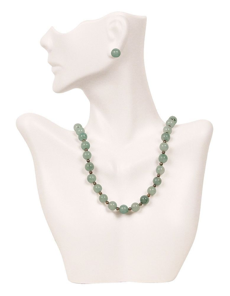 Jewelry Bust Display Necklace Earring White Cool Stuff On Ebay