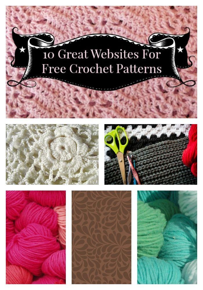 10 Great Websites For Free Crochet Patterns Crotchety Pinterest