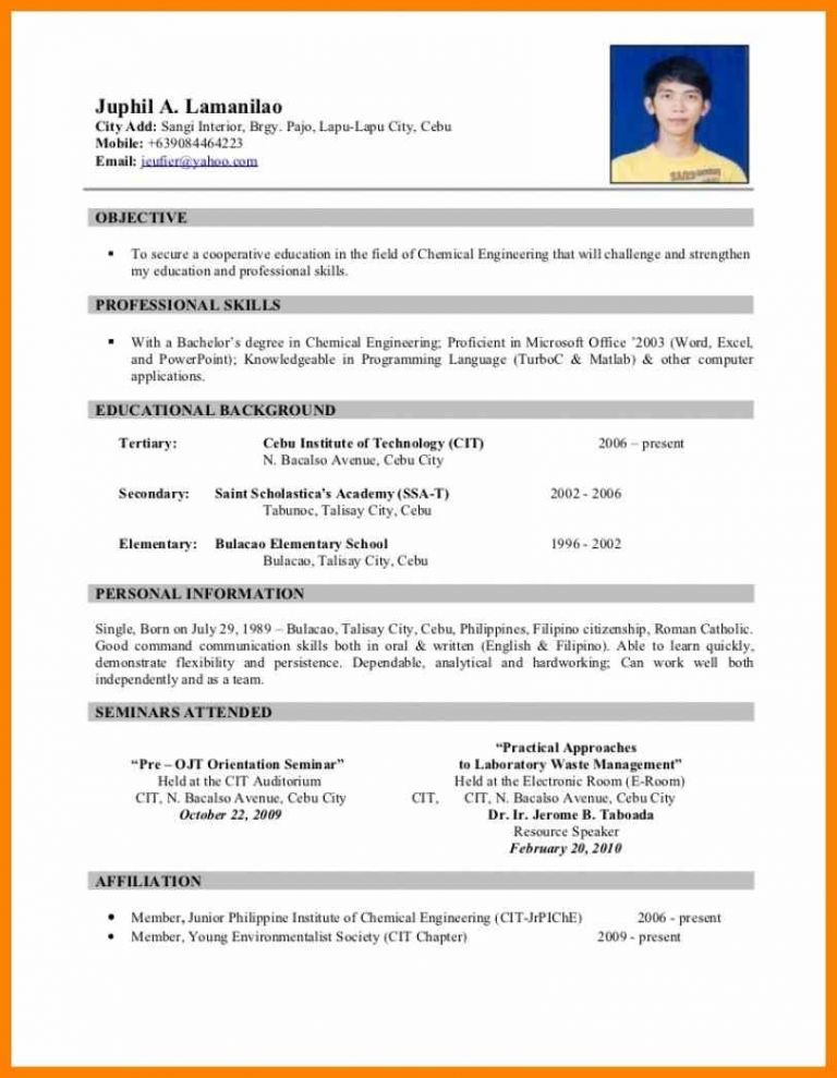 13+ philippine biodata form unmiser able Free resume