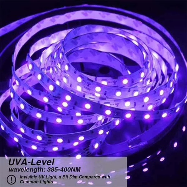 24w Flexible Blacklight Uv Lamp 12v Non Waterproof Led Uv Black Light Strip Onforuleds Strip Lighting Led Strip Lighting Black Light Led