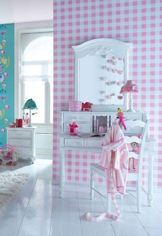 Brocante Kinder Bureau.Brocante Meisjes Bureau Kinderkamer Desk Wallpaper Slaapkamer