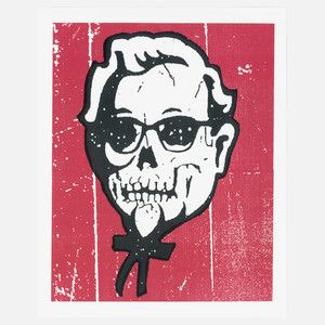 Skull Sanders 16x20, $19, now featured on Fab.