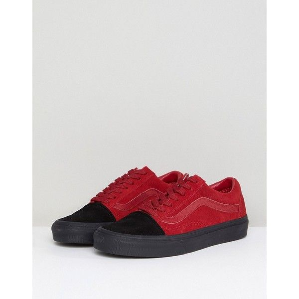 44f9d35349 Vans Old Skool Unisex Trainers In Colour Block Suede ( 80) ❤ liked on  Polyvore featuring shoes