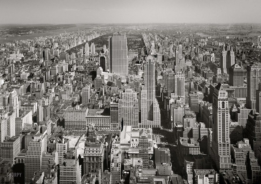 US (New York): New York City View (September 11 1933) New York Spam for @Fashionlynne