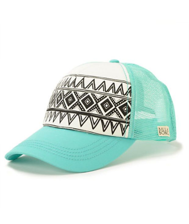 Billabong I Heard Mint Tribal Print Trucker Hat  0de762e665c