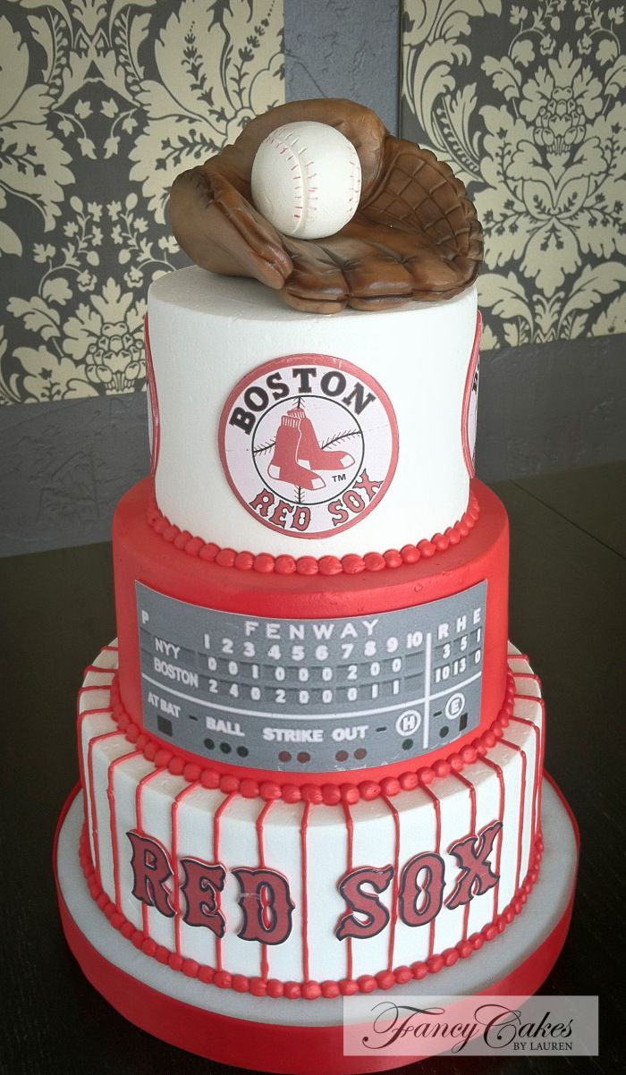 Boston Red Sox groom's cake - Fancy Cakes by Lauren