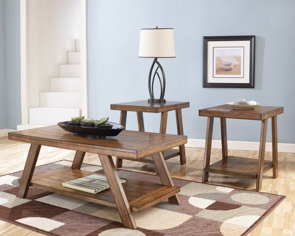 Perfect Bradley Rustic Plank Coffee Table Set By Ashley Furniture U2013 My Furniture  Place