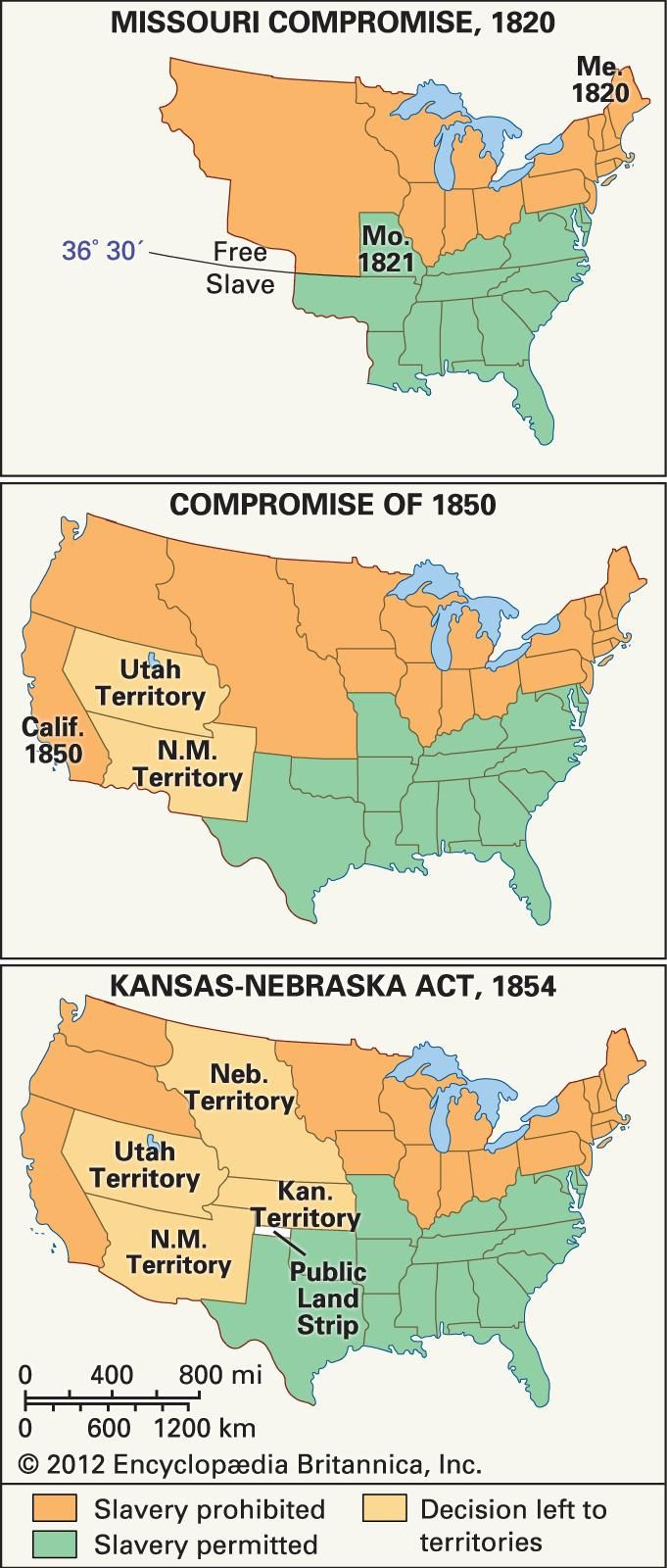 missouri compromise of 1820 compromise of 1850 and the kansas nebraska act as the compromises of the The compromise of 1850 and the kansas-nebraska act the missouri compromise was an act of congress passed in the 1820 missouri compromise played a large.