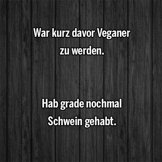 War Kurz Davor Veganer Zu Werden Hab Grade Nochmal Schwein