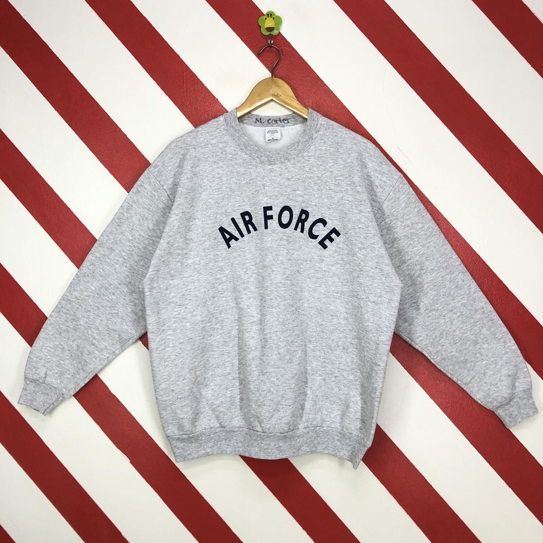 Vintage 90s Air Force Sweatshirt Air Force Crewneck Air Force Etsy Air Force Sweatshirt Sweatshirts Print Logo [ 3000 x 3000 Pixel ]
