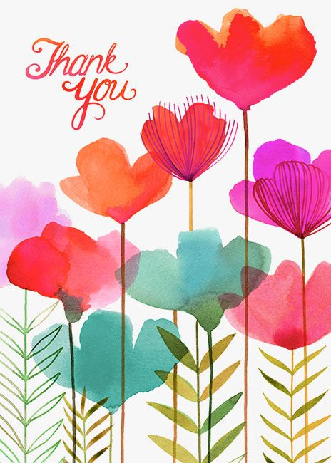 Margaret Berg Art: Spring+Pinks+Thank+You   watercolor in 2019