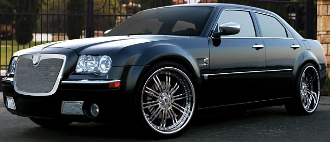 Chysler 300c With Asanti Grille And Chrome Rims With Images