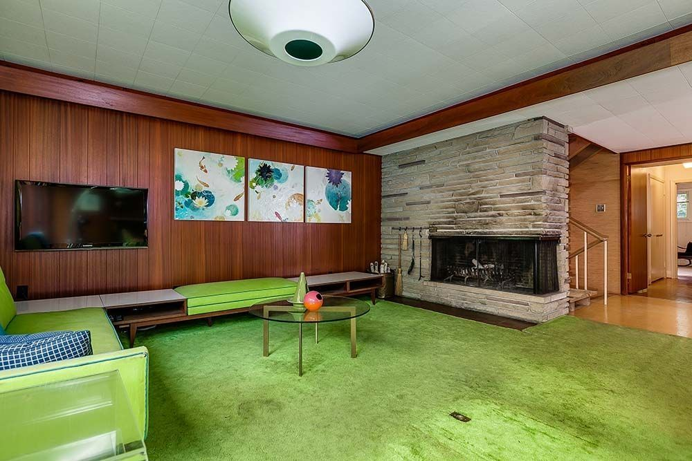 cool 37 mid century modern home with green element interior design
