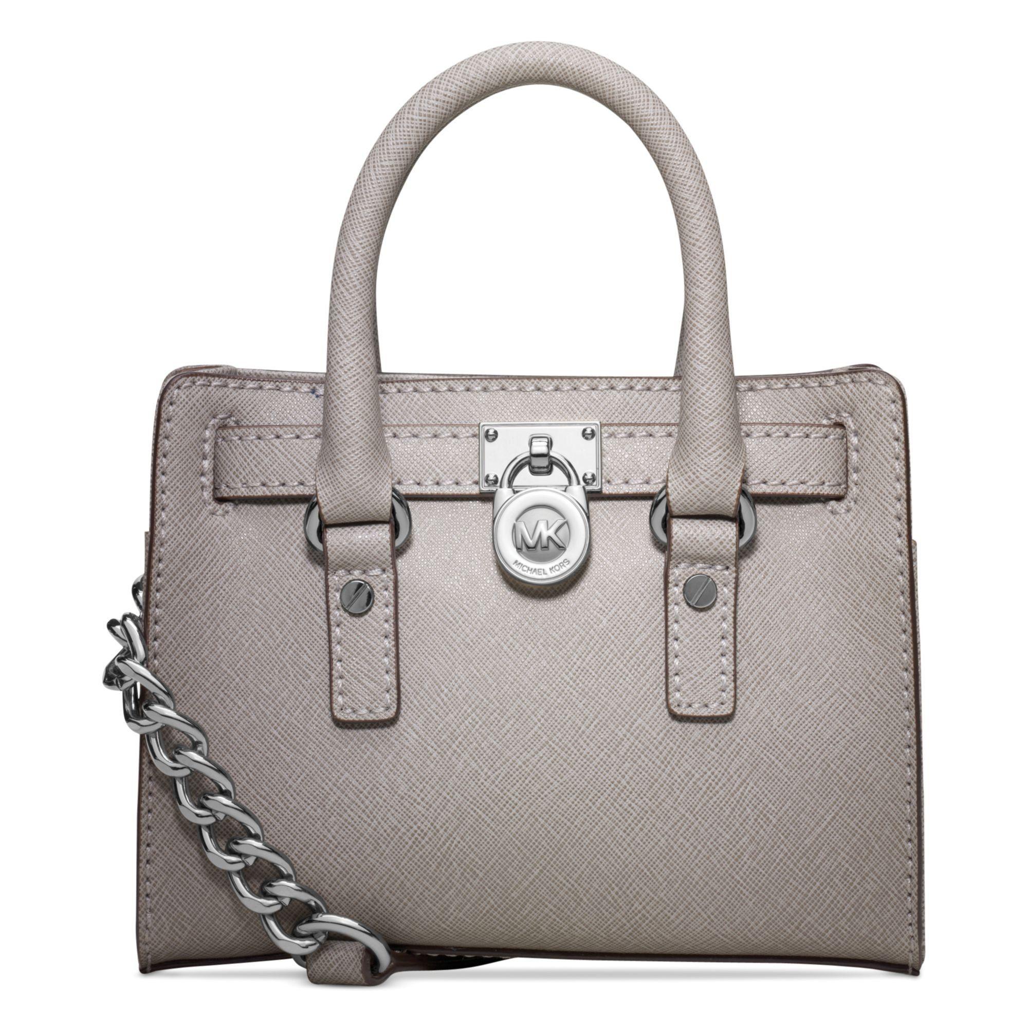 Michael Kors Mini Hamilton Satchel Pearl Grey: Handbags: Amazon.com