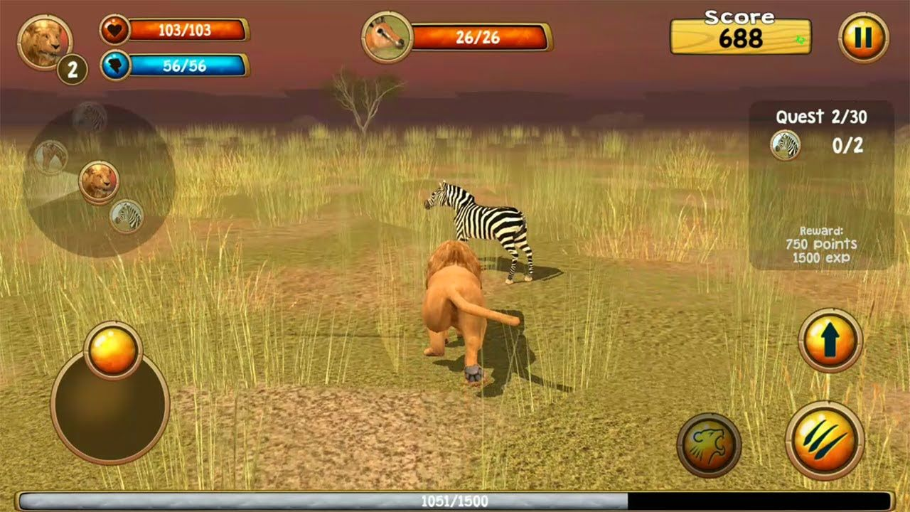 Wild Lion Simulator 3d Android Gameplay In 2020 Wild Lion Simulation Simulation Games