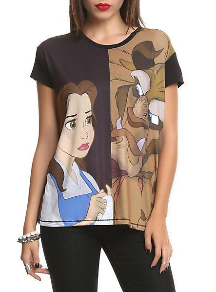 Disney Beauty And The Beast Frightened Girls T-Shirt | Hot Topic
