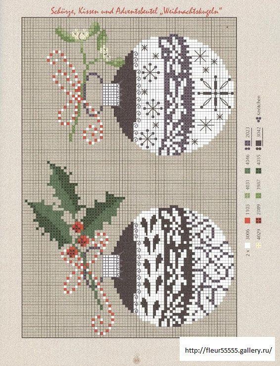 Ornaments (bbj5303) 1/1 | jul | Pinterest | Punto de cruz, Puntos y ...