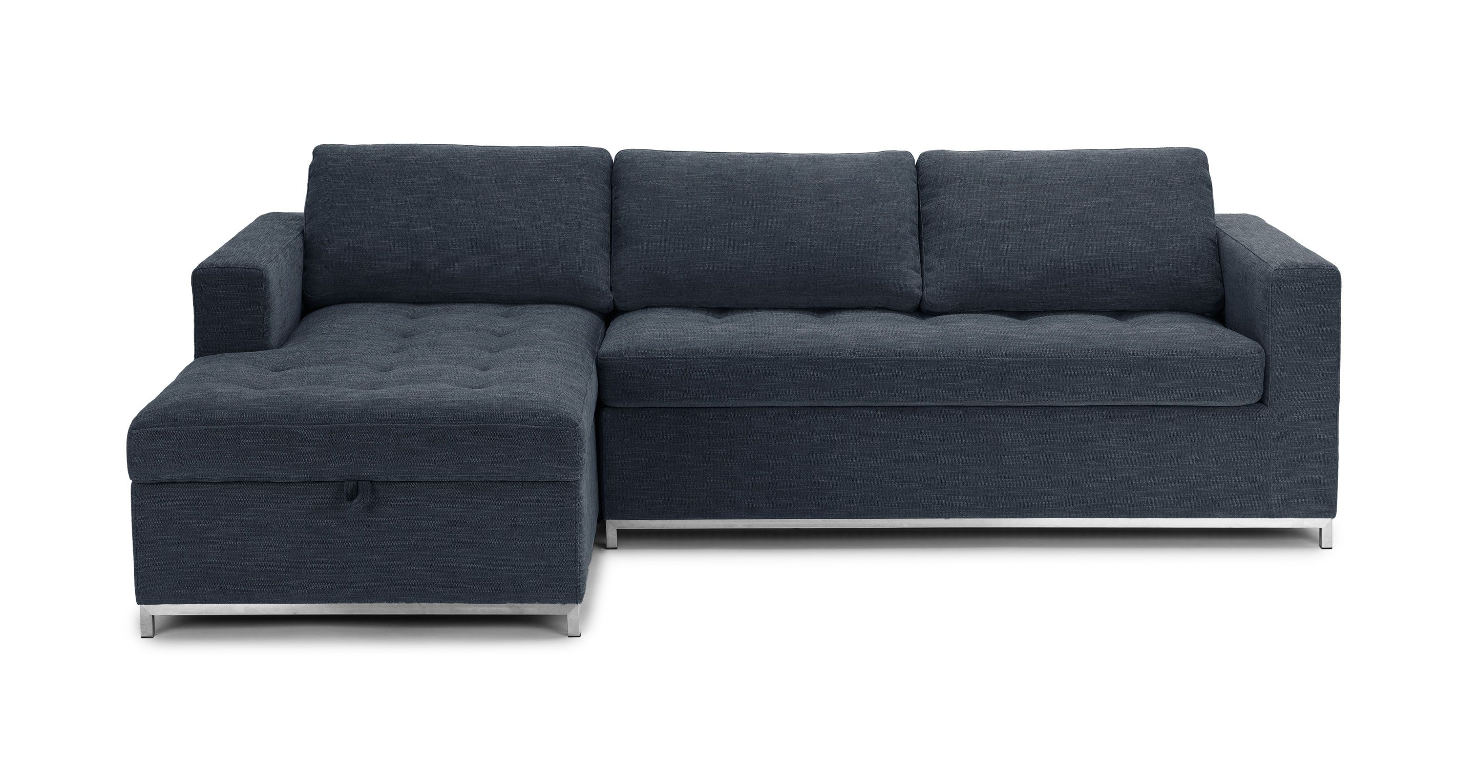 Soma Midnight Blue Left Sofa Bed   Sectionals   Article | Modern,  Mid Century