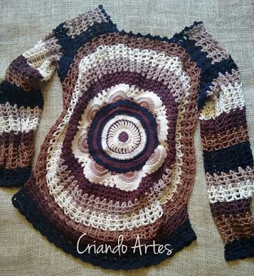 Criando Artes Carla: Blusa Mandala crochet