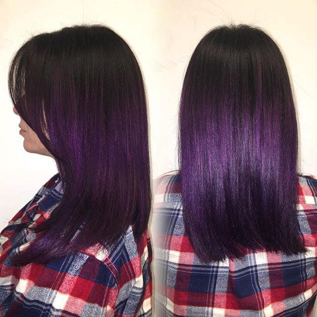 Proof That All Brunettes Can Rock Amethyst Hair Ombre Hair Color