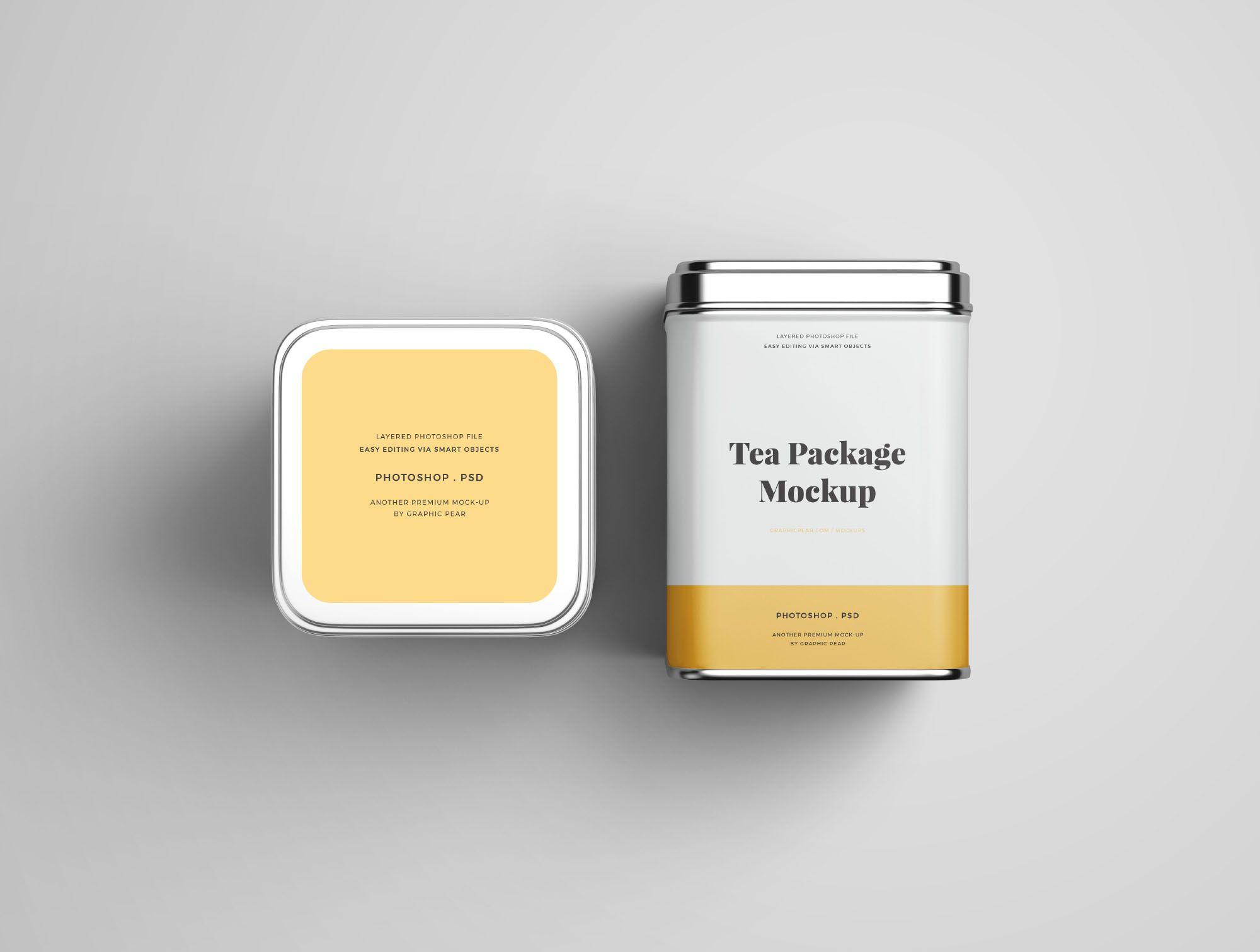 Download Tea Package Mockup Top Front Tea Packaging Design Tea Packaging Premium Tea Packaging