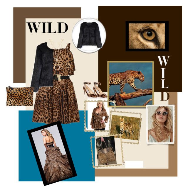 """""""Wild cat!!"""" by jaja8x8 ❤ liked on Polyvore featuring Dolce&Gabbana, Jimmy Choo, Kate Spade, Fragments, Chicwish, Clare V. and Ralph Lauren"""