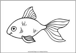 Line Drawing And Gold Fish Fish Coloring Page Animal Coloring Pages New Year Coloring Pages
