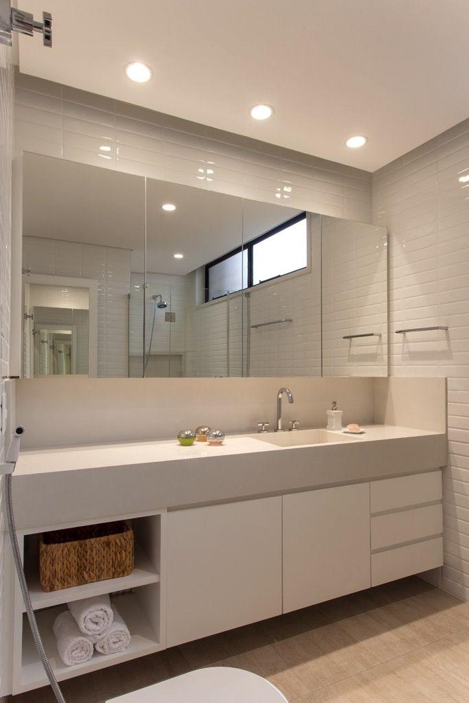 Ceramica Portobello White White 07x24 Brilho Bold Banheiros Modernos Banheiros Planejados Banheiro