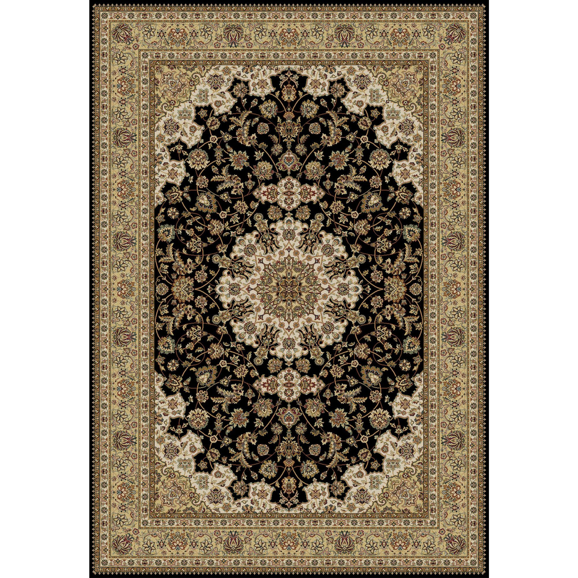 Isfahan Isfahani carpets usually have ivory backgrounds with blue