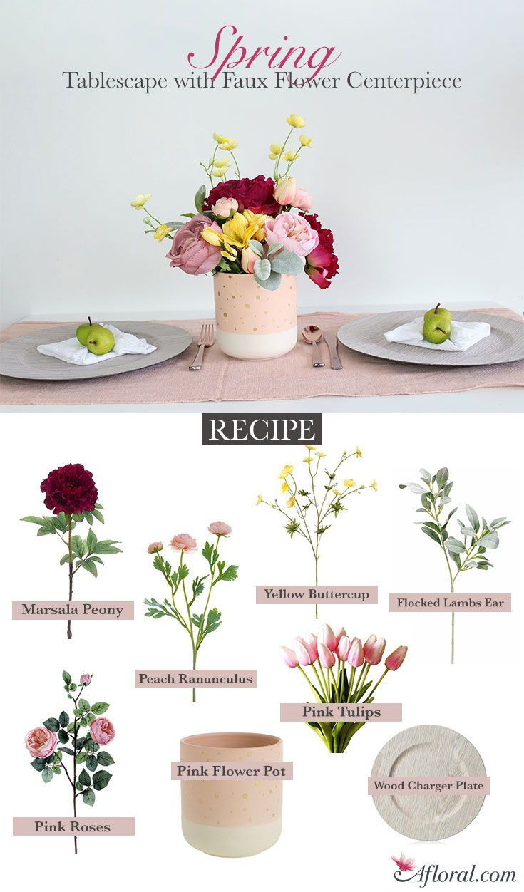 Create this spring tablescap…   Spring Into Pastels by Afloral.com ...