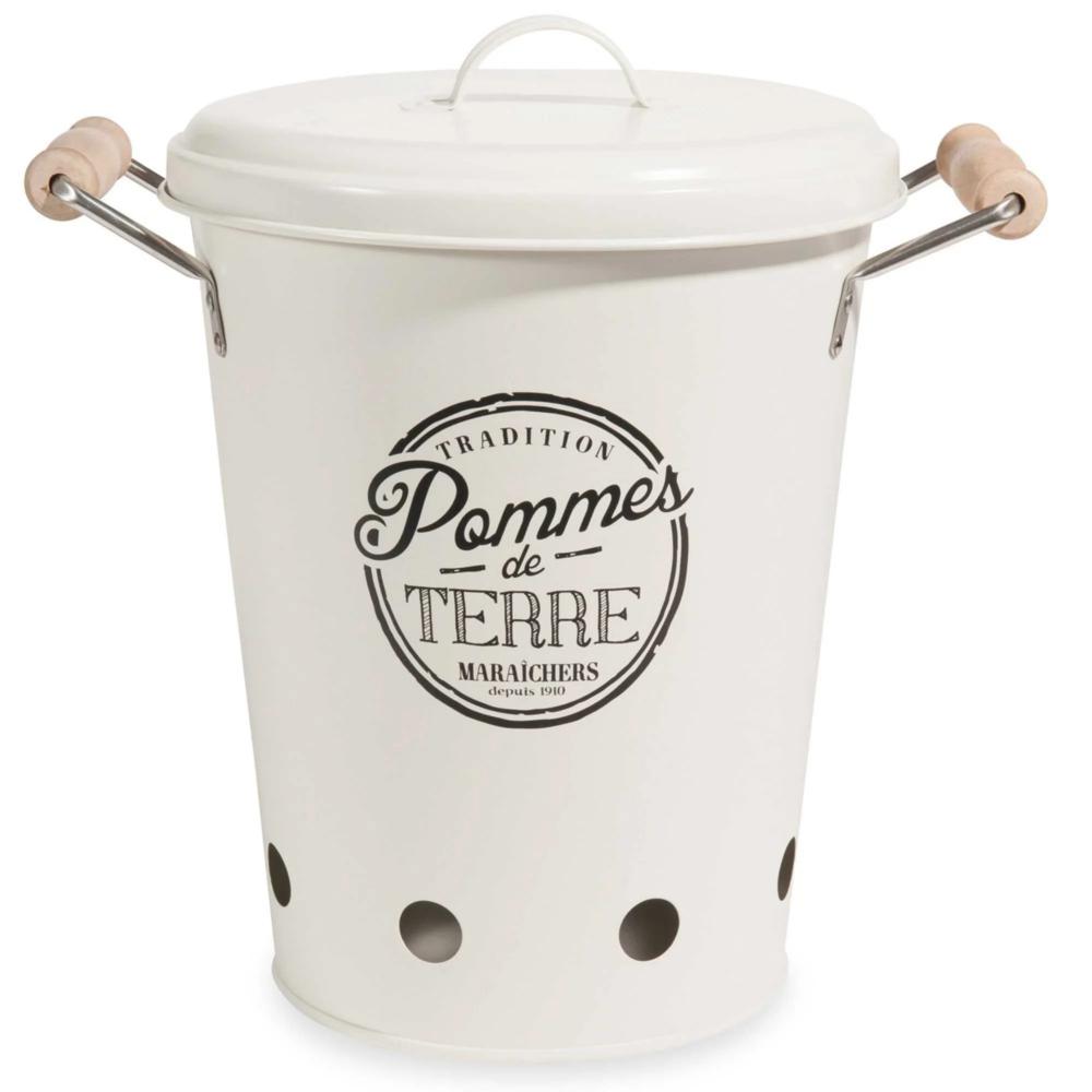 Vaso per patate con coperchio in metallo   Maisons du ...