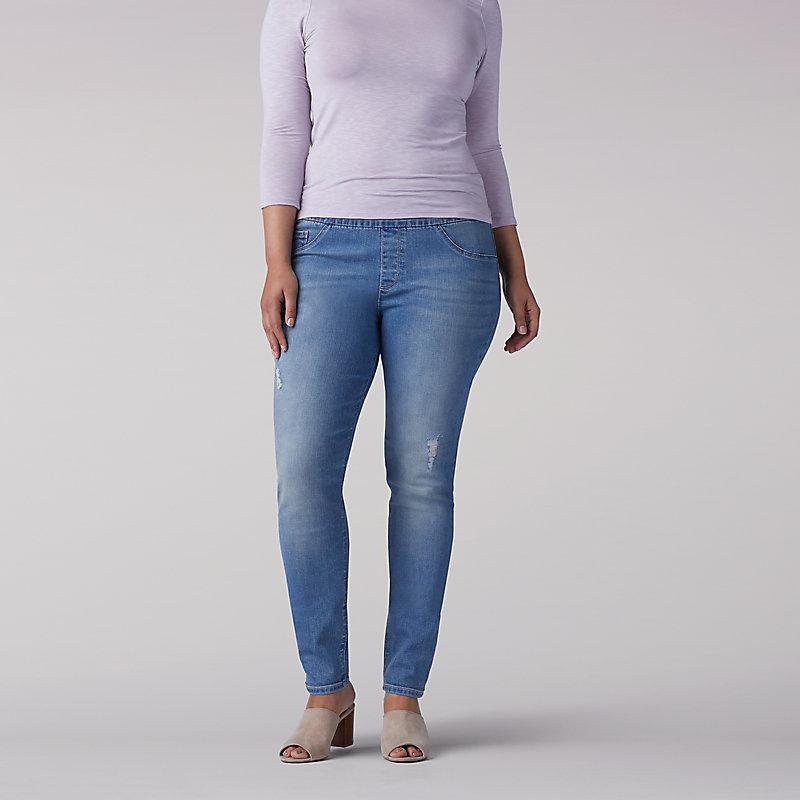 e660e75e485 Lee Women s Sculpting Slim Fit Skinny Pull-On Jeans - Plus (Size 26W x L)