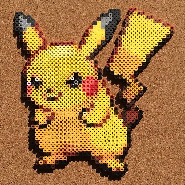 pikachu perler beads by grid pokemon. Black Bedroom Furniture Sets. Home Design Ideas
