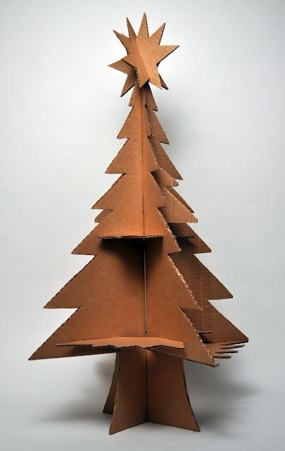 cardboard christmas tree neat display idea or to let kids decorate - Cardboard Christmas Decorations