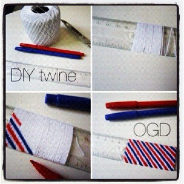 DIY twine!!  Pure genius.
