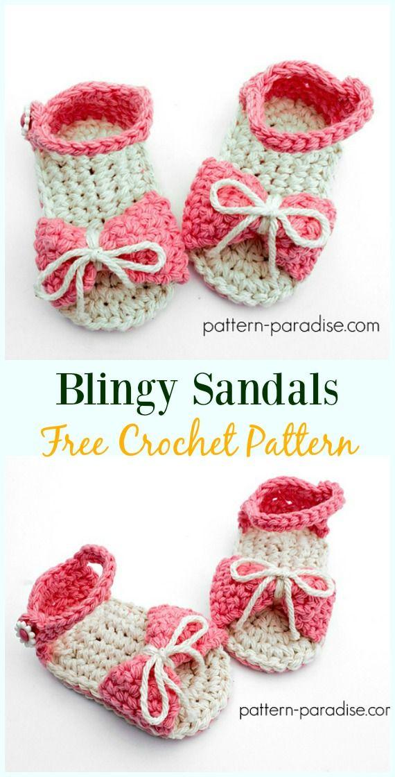 Crochet Blingy Sandals Free Pattern-Crochet Baby Sandals Free ...