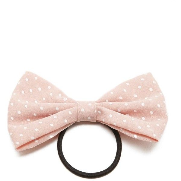 polka dot print bow hair tie ❤ liked on Polyvore featuring accessories 4fe5e60ed59