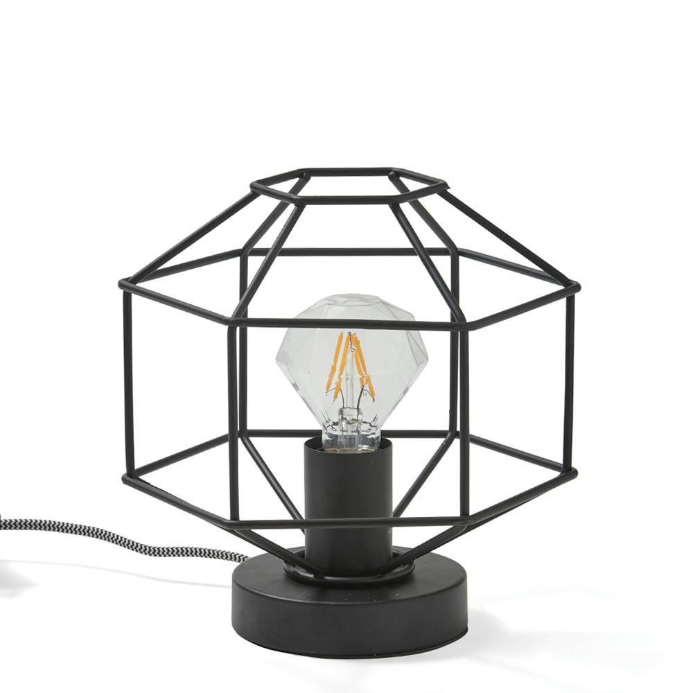 Black Diamond Outline Lamp
