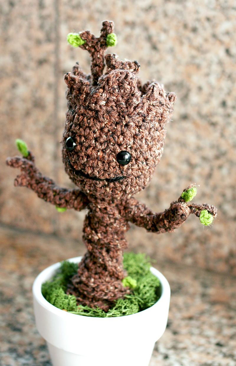 Potted Baby Groot From Guardians Of The Galaxy Crochet Pinterest