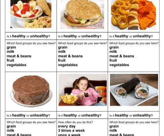 A two-page worksheet with several different healthy and unhealthy ...