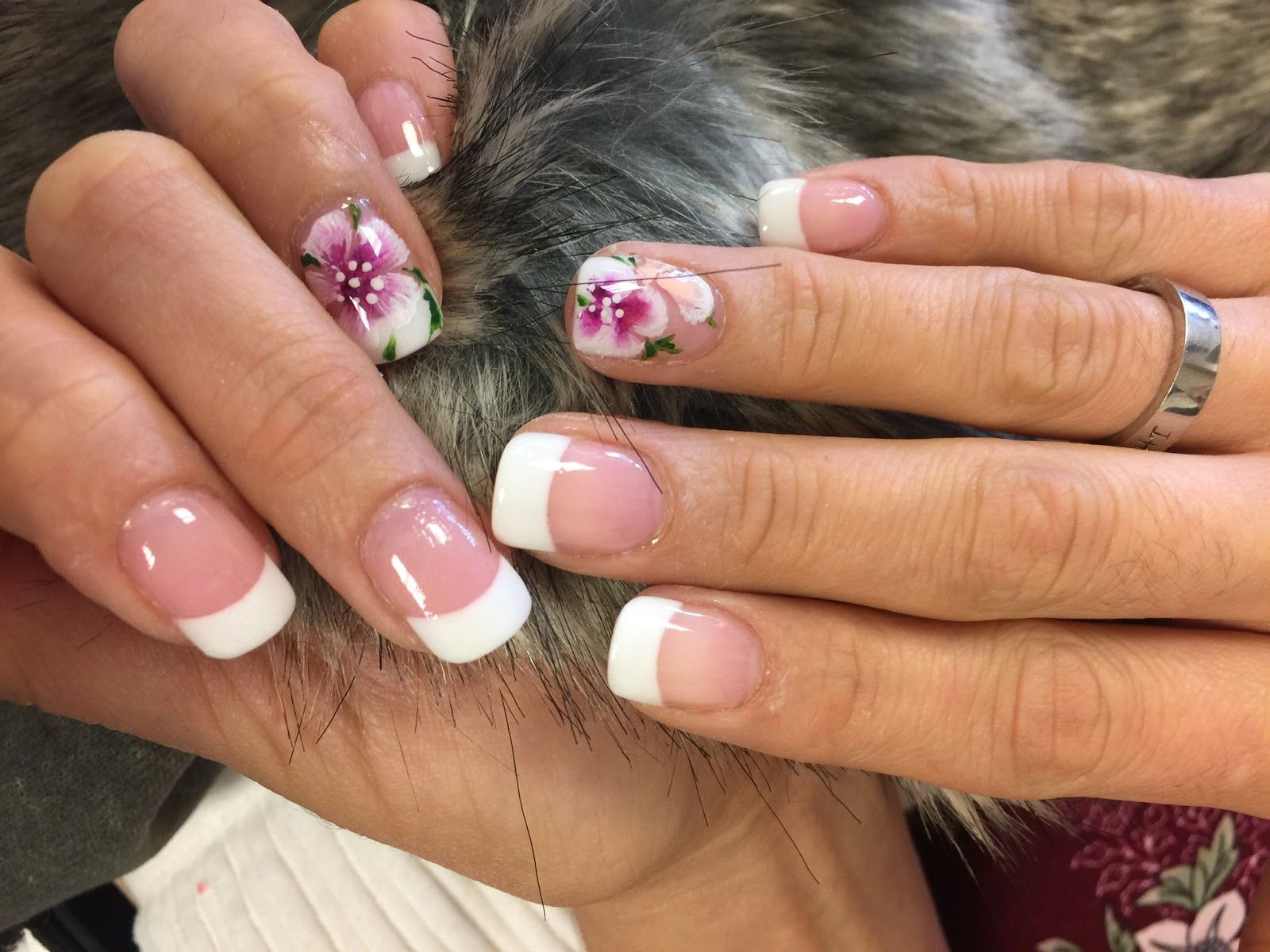 Nails Art With Flowers Decoration At Nails Expo Spa Nails Toe
