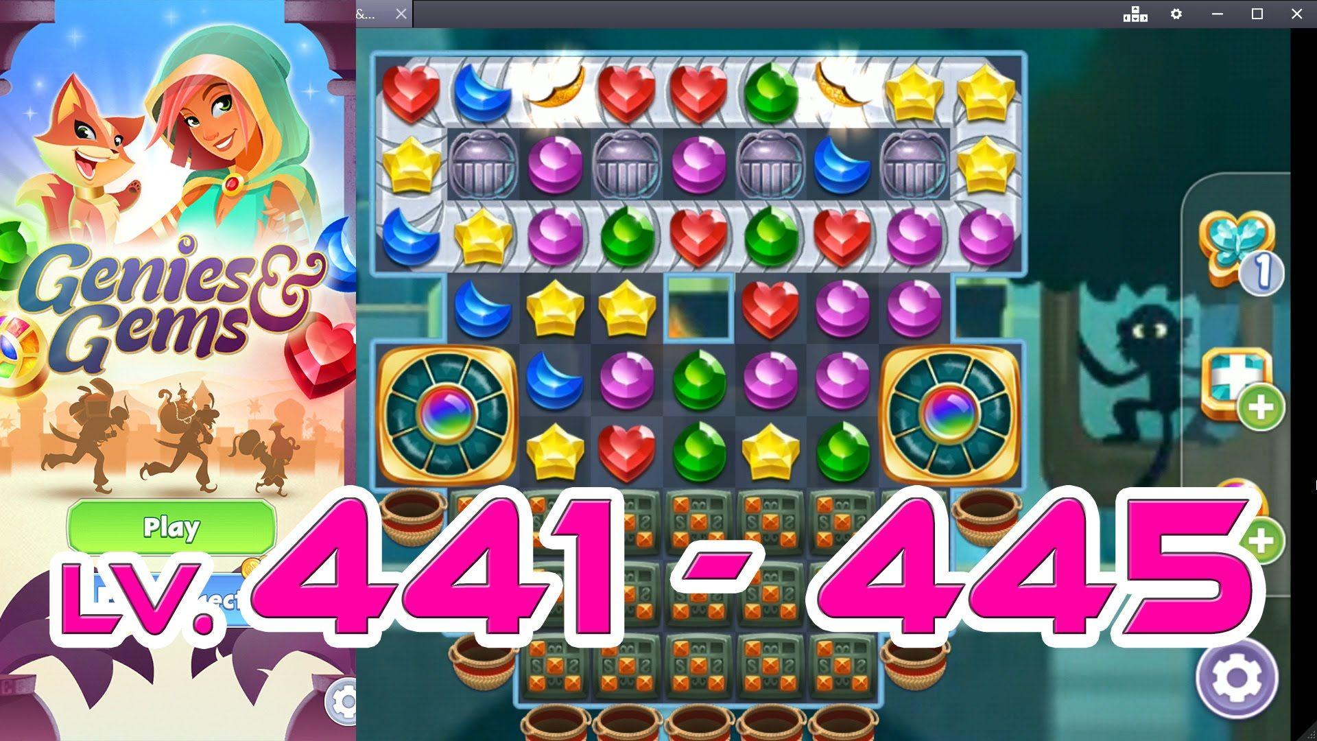 Genies & Gems - Level 441 - 445 (1080p/60fps)