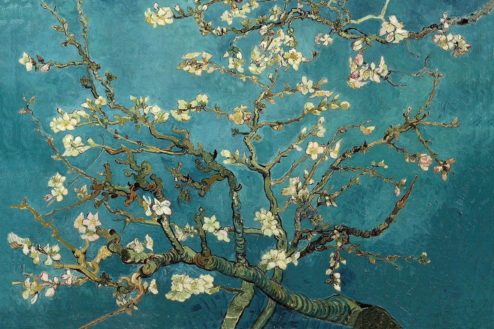 Van Gogh Almond Blossom Wallpaper Mural Hovia Van Gogh Wallpaper Van Gogh Almond Blossom Canvas Art