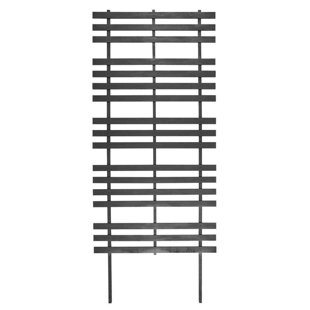 72 in. Wood Modern Ladder Trellis