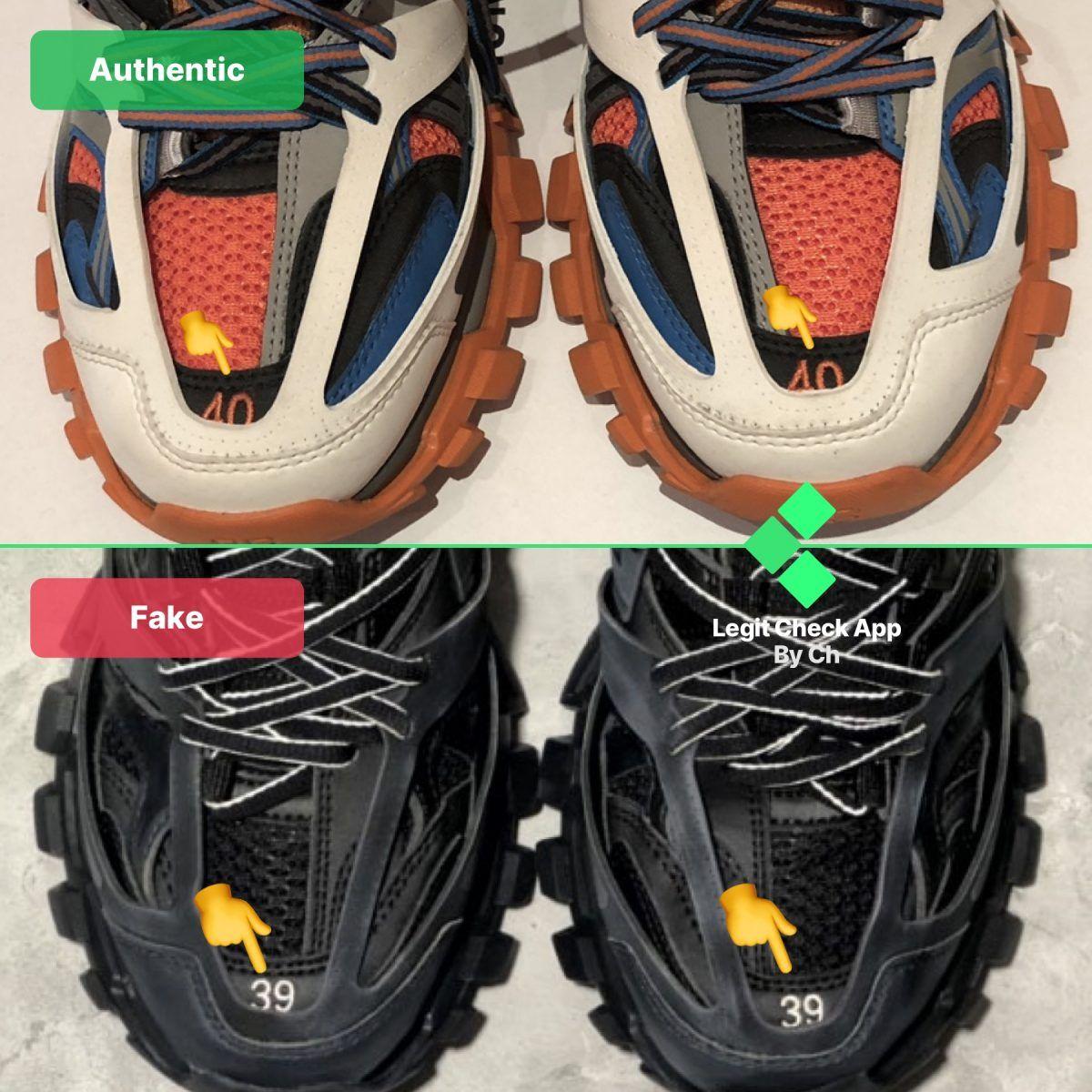 How To Spot Fake Balenciaga Track