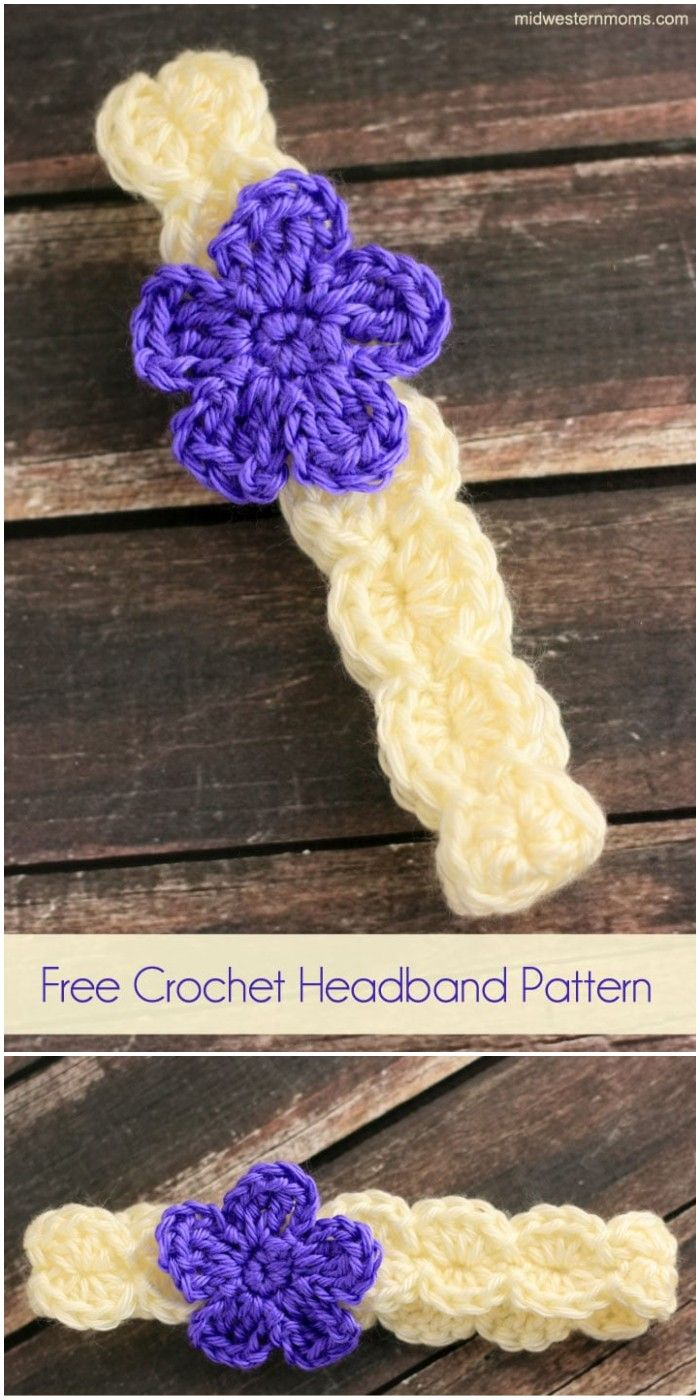 Crochet Headband Patterns - Free Patterns #crochetedheadbands