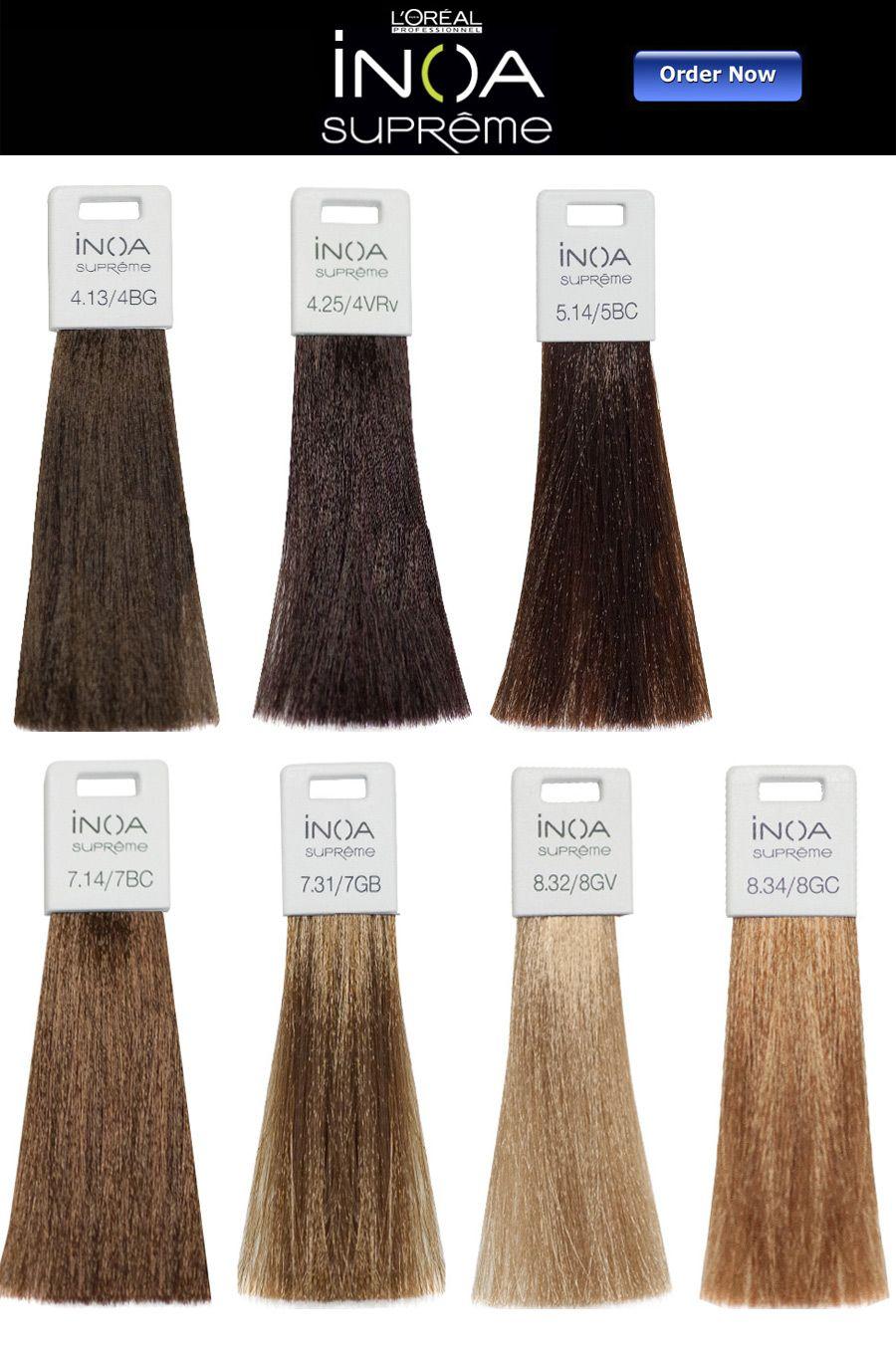 L Oreal Inoa Supreme Hair Color Chart In 2020 Loreal Hair Color Hair Color Chart Loreal Hair Dye